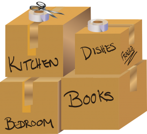 Clipart of moving boxes