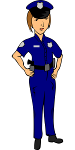 Clipart of policewoman