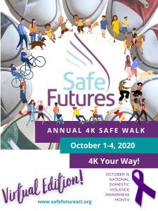 Poster Advertising 4K Safe Walk Fundraiser in October 2020